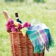 Romantic picnic in mediterranean setting — Stock Photo