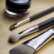 A selection of professional makeup brushes  — Stock Photo