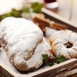 christmas stollen — Stock Photo