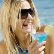 Cocktails by the sea — Stock Photo