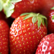 Fresh ripe strawberries closeup — Stock Photo