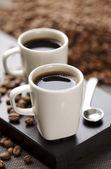 コーヒー豆とコーヒー — ストック写真