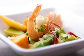 Shrimp,avocado and mango salad — Stock Photo
