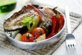 Spanish roasted vegetables — 图库照片