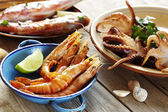 Seafood outdoors — Stock Photo