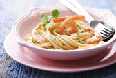 Hrimp pasta — Stockfoto