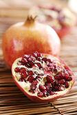 Ripe open pomegranate — Stock Photo