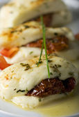 Cypriot halloumi cheese baked — Stock Photo