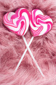 Heartshaped lollipops — Stock Photo