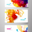 Royalty-Free Stock Vector Image: Set of abstract colorful splash gift cards.