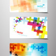 Stock Vector: Set of abstract colorful cross variations.