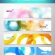 Set of abstract colorful web headers. — Stock Vector #6297539