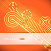 Abstract lines with orange background. — Stock Vector