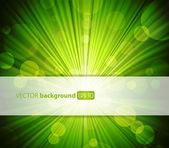 Abstract green background with place for your text. — Stock Vector