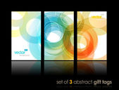 Set of gift cards with circles. — Stock Vector