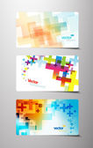 Set of abstract colorful cross variations. — Stock Vector