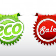 Set of sale and ecology badge. — Stock Vector #6315846