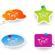 Set of colored stickers. - Stock Vector