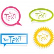 Royalty-Free Stock Vector Image: Set of colored stickers.