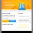 Website template with city. - Stock Vector