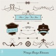 Set of vintage design elements. - Stock Vector