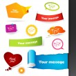 Royalty-Free Stock Vector Image: Set of colored labels, stickers.