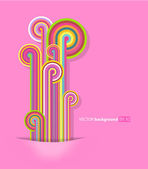 Abstract lines with pink background. — Stock Vector