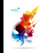 Abstract colorful splash illustration. — Stock Vector