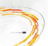 Abstract futuristic orange 3D circle. — Stock Vector