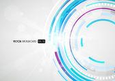 Abstract futuristic blue circle. — Stock Vector