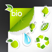 Set of ecology icons. Vector art — Stock Vector