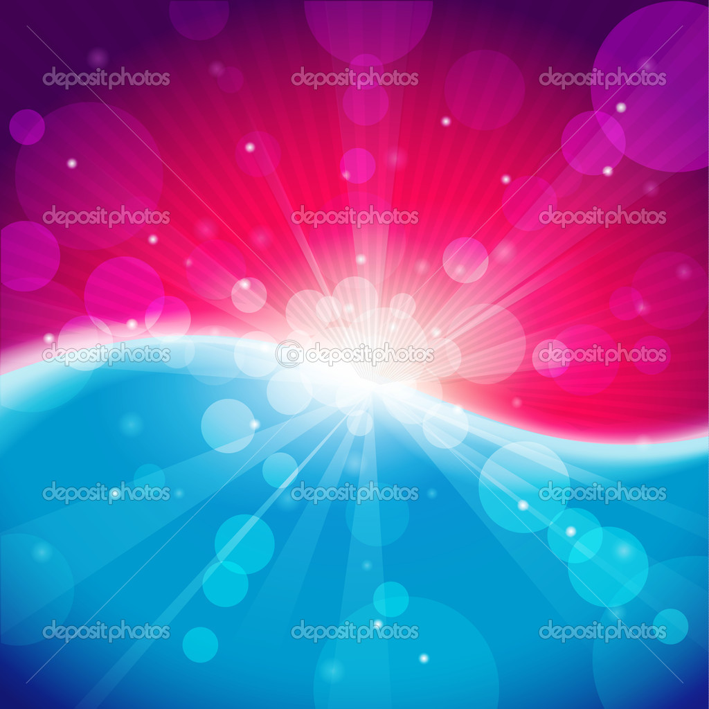 Fantasy winter meadow with lens flare. — Stock Vector #6315282