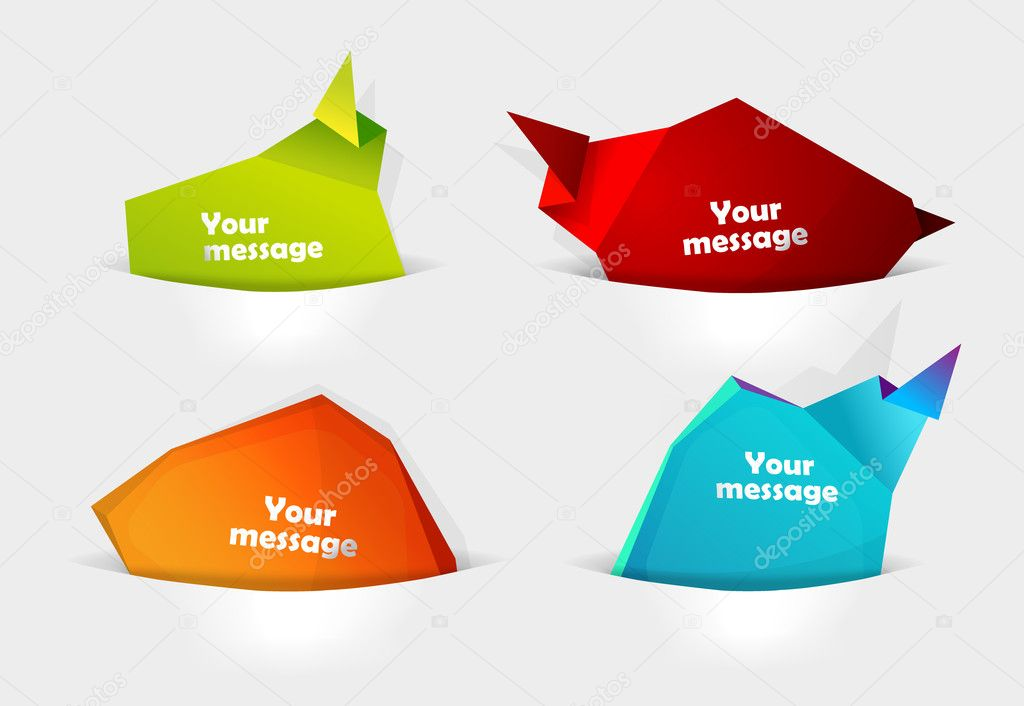 Set of message bubbles in pocket for your text.   Stock Vector #6315784