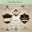 Royalty-Free Stock Vector: Set of vintage design elements.