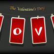 Royalty-Free Stock Vector Image: Valentine hanging labels.