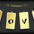 Valentine hanging labels. — 图库矢量图片