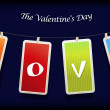 Royalty-Free Stock Векторное изображение: Valentine hanging labels.