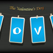 Valentine hanging labels. — Stock Vector