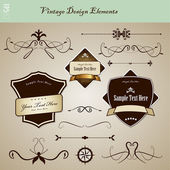 Set of vintage design elements. — Stock Vector