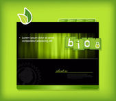 Website template with bio sign. — Stock Vector