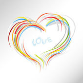 Valentine heart from colorful lines. — Stock Vector