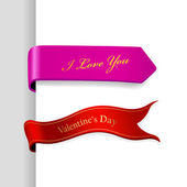 Set of Valentine's Day ribbons. — Stock Vector