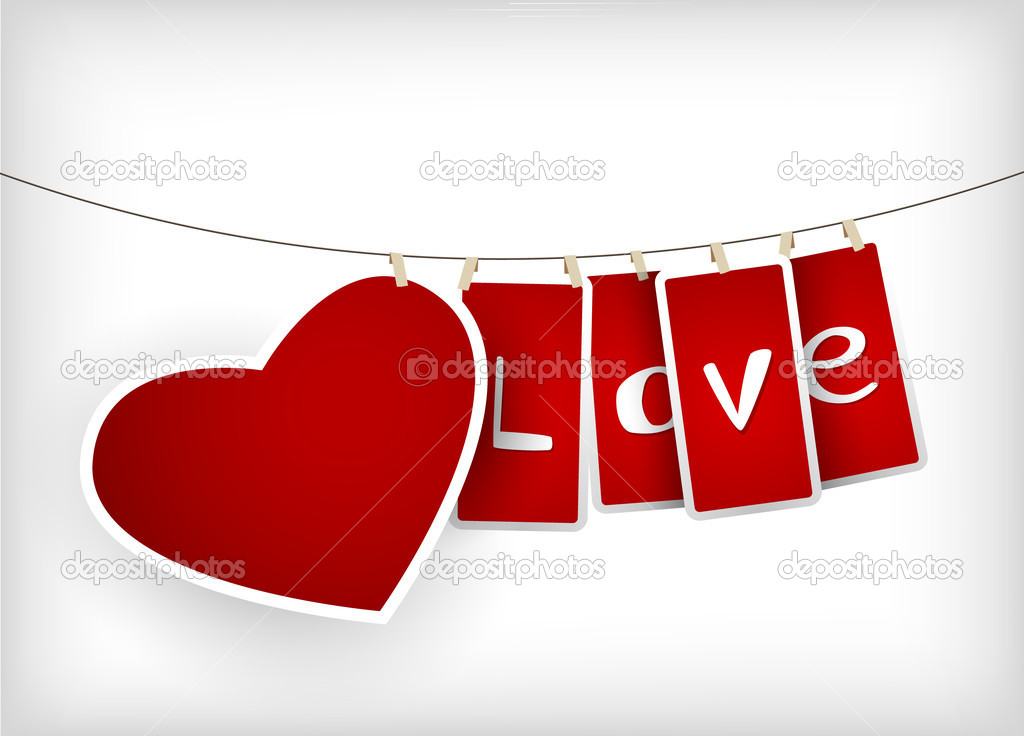 Valentine hanging labels. — Stock Vector #6360382