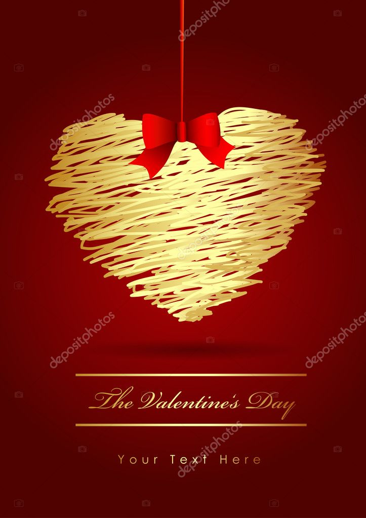 The Valentine's day  Imagen vectorial #6360467