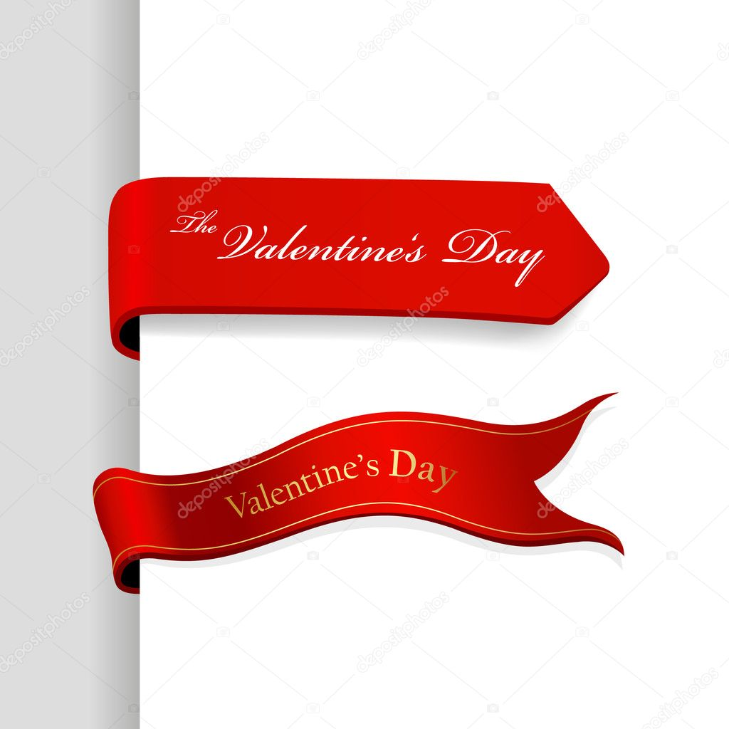 Set of Valentine's Day ribbons.  Stock Vector #6360481