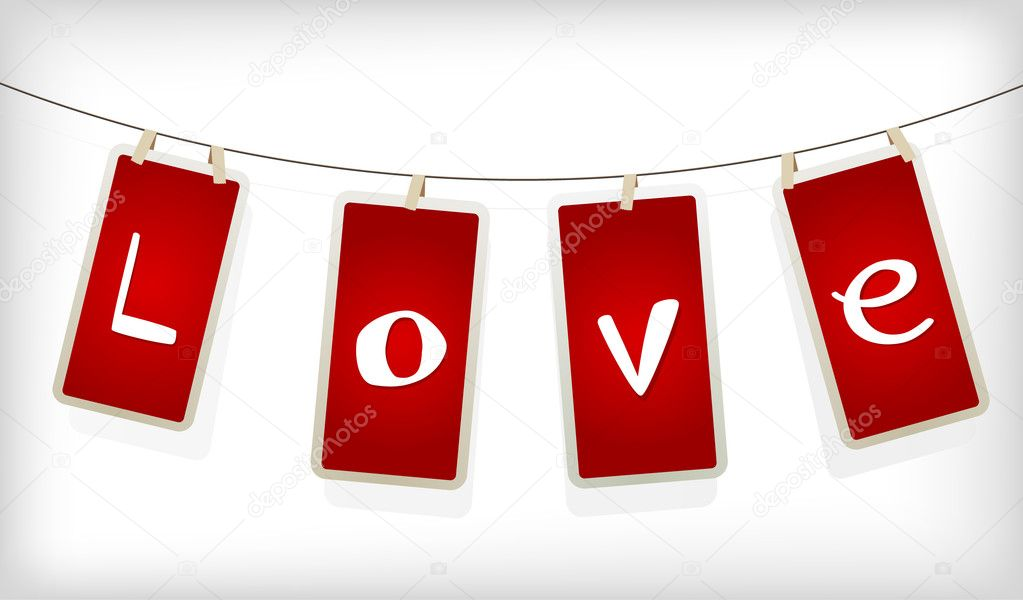 Valentine hanging labels. — Stock Vector #6360494