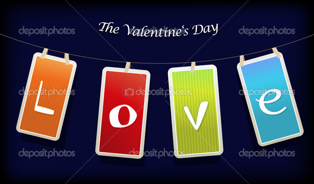 Valentine hanging labels. — Stock Vector #6360525