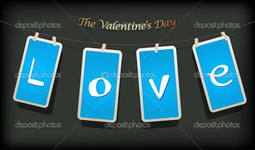 Valentine hanging labels.  Stockvectorbeeld #6360568