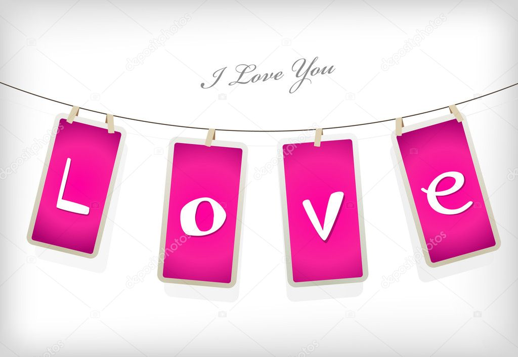 Valentine hanging labels. — Stock Vector #6360573