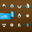 Set of black and blue icons. Vector — Stock Vector #6378392